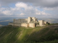 The Krak des Chevaliers, Syria (the 1185 A.D. home of Ríg, Khajen ibn-Khaldun, Marcus, & Pellion at beginning of The Artifacts of Destiny)