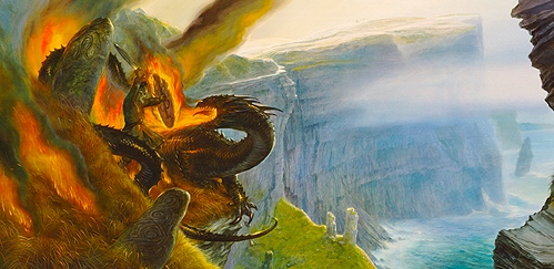 "Inspiration of Medieval Language & Literature: ""Beowulf & the Dragon"" (art by John Howe)"