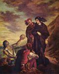 Hamlet & Horatio w/Gravedigger (Delacroix)