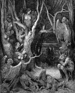 Harpies in the Infernal Wood (Gustave Dore, Dante's Divine Comedy, Canto 13)