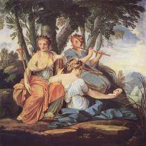 """Eustache Le Sueur, The Muses: """"Clio, Euterpe, et Thalie"""" (""""History, Song & Elegiac Poetry, & Comedy,"""" c. 1640-1645)"""