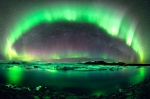 The Norse Imagination: An Aspect of Mimir's Well (Aurora Borealis over Glacial Lake at Jökulsárlòn (Iceland; Wikipedia)