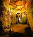 Interior Chamber of Newgrange, Ireland (built c. 3200 B.C.; World Heritage Site)