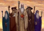 "The Five Wizards sent by the Valar (Istari), from J.R.R. Tolkien, ""Unfinished Tales"""