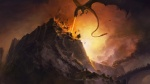 "Assault on Nargotronda by Glaurung the Dragon (First Age, from J.R.R. Tolkien's ""The Silmarillion"")"