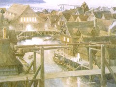 Lake Town (Alan Lee)