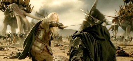 Éowyn (Miranda Otto) slays the Witch-King of Angmar (from The Return of the King, 2003)