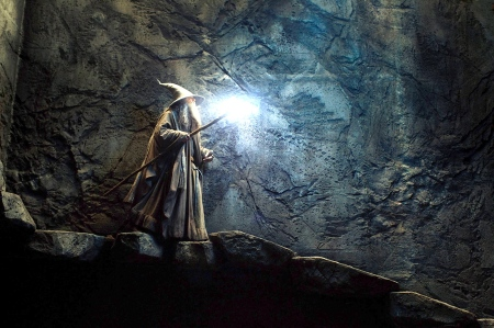 "Gandalf at the High Fells of Rhudaur (Tombs of the Nazgûl in Jackson's ""The Hobbit: The Desolation of Smaug"")"