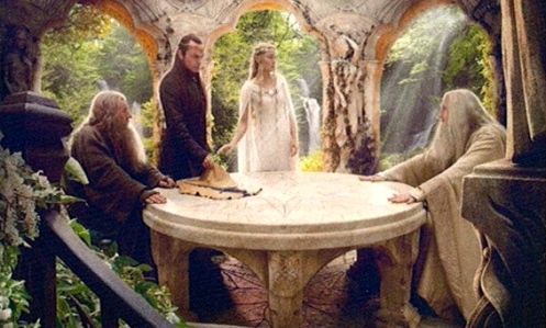Gandalf, Elrond, Galadriel, & Saruman of the White Council