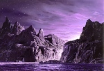 "Gandalf's Home (""The Light of Valinor on the Western Sea,"" by Ted Nasmith)"