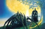 Sauron's Master, Melkor, & Ungoliant destroy the Two Trees (from J.R.R. Tolkien's The Silmarillion; art by Ted Nasmith)