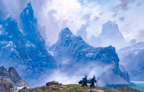 The Blue Wizards Pass into the East (J.R.R. Tolkien, Unfinished Tales; by Ted Nasmith)