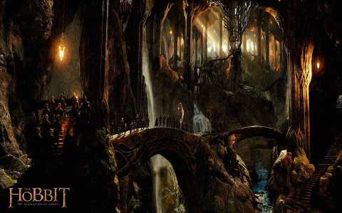 The Wood-Elves' Kingdom (The Hobbit: The Desolation of Smaug, New Line Cinema/Warner Bros., 2013)