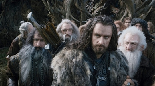 Thorin & Co. have much more active role than in Tolkien's work (where Smaug was dead by time they entered Erebor!)