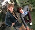 Watson & Holmes on the Hobbit Set (Freeman & Cumberbatch)