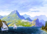White Ships from Valinor (Tolkien, The SIlmarillion; art by Ted Nasmith)