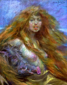 "19th Century Male Fantasy: The Witch & Wild Animals, ""Circe"" (Alice Pike Barney, 1895)"