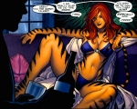 21st Century Male Fantasy: Tigra the Werecat, Created in 1973 (art by Frank Cho, Marvel Comics)