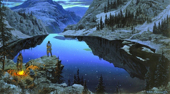 """At Tarn Aeluin"" (from J.R.R. Tolkien, The Silmarillion; art by Ted Nasmith)"