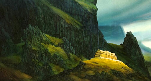 "Beowulf, ""The Hall of Heorot"" (by John Howe)"