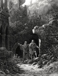 "Bourke's Post-Epic Fantasy Criteria: High Fantasy Quest (""Merlin & Arthur,"" Gustave Doré, 1868)"