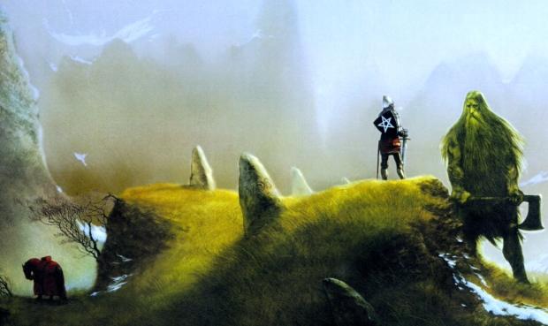 "Carlisle's World: Medieval Romance (""Sir Gawain & the Green Knight,"" art by John Howe)"