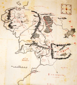 Christopher Tolkien, Map of Middle Earth (J.R.R. Tolkien, The Lord of the Rings)