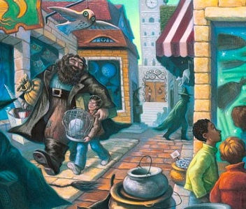 "Multiple 21st Fantasies: ""Contemporary"" (J.K. Rowling's Harry Potter Series; art by Mary GrandPré)"