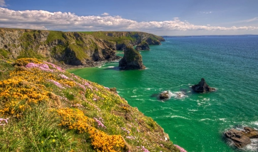 The Lands of King Arthur: Cornwall Cliffs in Spring