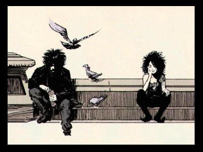 "Powerful Incarnations:  Dream & Death, from Neil Gaiman's ""The Sandman"" (#8, art by Mike Dringenberg)"