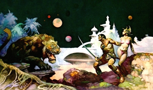 "Edgar Rice Burroughs, ""John Carter & Dejah Thoris"" (art by Frank Frazetta)"