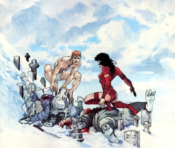 Instant Myth-Making & One of the Strongest Females in Comic Book History:  Elektra Lives Again (Frank Miller & Lynn Varley, 1990)