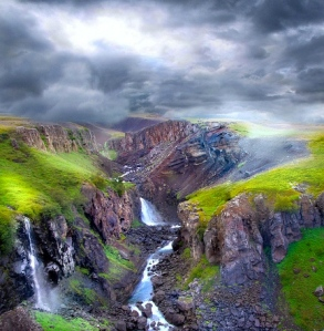 Carlisle's Epic Fantasy:  Partly Inspired by Sagas & Eddas of Medieval Iceland (Canyon Hengifossa, E. Iceland)