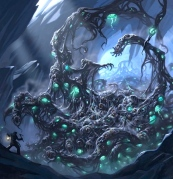 "H.P. Lovecraft, ""Shoggoth"" (art by Craig J. Spearing)"