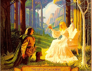 "J.R.R. Tolkien, The Fellowship of the Rings, ""The Gift of Galadriel"" (The Brothers Hildebrandt)"