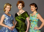 January Jones, Christina Hendricks, & Elizabeth Moss of Mad Men