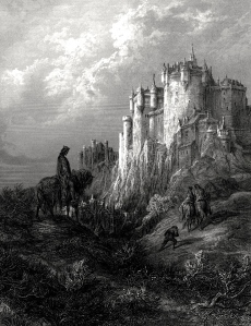 "King Arthur & Camelot (Gustave Dore, illustration of Alfred Tennyson's ""Idylls of the King,"" 1868)"