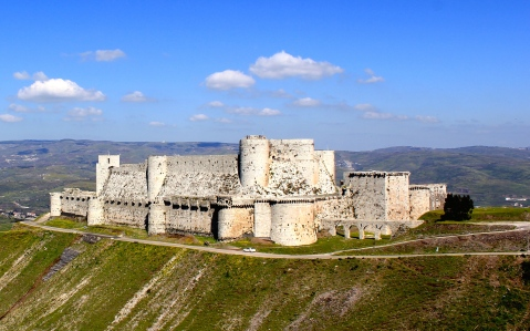 12th Century Middle Eastern & Levantine Crusader Lands (Krak des Chevaliers, Syria)