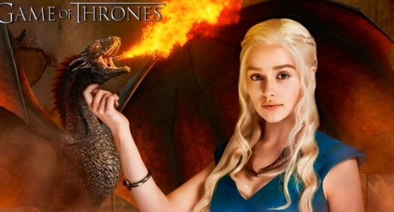 "Martin's A Song of Fire and Ice, ""Daenerys Targaryen"" (Emilia Clarke)"