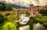 Medieval Catalonia, Homeland of 13th C. Kabbalah writer, Nahmanides (Fluvia river at Besalu, Girona)
