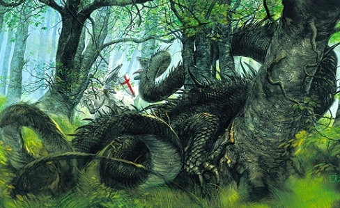 Medieval Courtly Romance- St. George & the Dragon (Art by John Howe)
