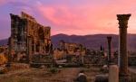 Medieval Mediterranean- Roman Ruins at Volubilis, Morocco (Atlas Mountains)