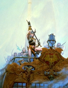 Michael Moorcock, Elric: Sailor on the Seas of Fate (by Michael Whelan)