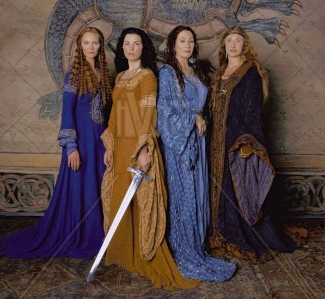 Marion Zimmer Bradley's, The Mists of Avalon: Morgause, Morgaine, Vivianne, & Gwenwyfar (Joan Allen, Julianna Margulies, Anjelica Huston, & Samantha Mathis, 2001)
