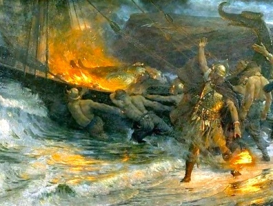 Viking Funeral (Sir Francis Bernard Dicksee; Wikipedia)