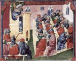 "Medieval University (from ms, ""Book of Ethics"" --  Henry of Freimar/Alemannia, c. 1350)"