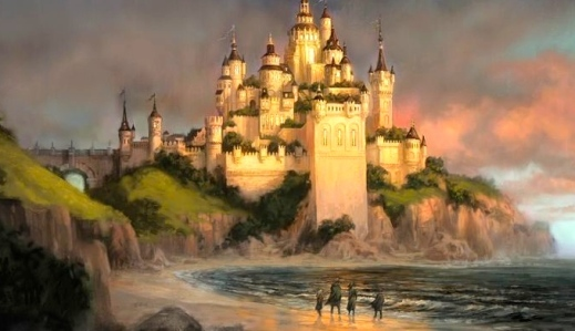 "C.S. Lewis, ""The Chronicles of Narnia"" (""The Lion, the Witch, and The Wardrobe,"" (Concept art for Cair Paravel, Disney, 2005)"