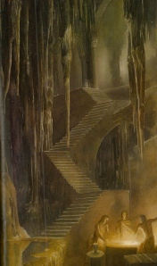 "Inspiration of Medieval Language & Literature: J.R.R. Tolkien, ""The Children of Hurin"" (""Elven Smiths Forge Anglachel,"" art by Alan Lee)"