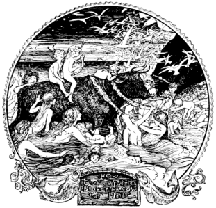 "Inspiration of Medieval Language & Literature: Andrew Lang's Collection of Folklore & Fairy Tales (""The Sea King's Gift,"" in ""The Lilac Fairy Book,"" art by Henry J. Ford, 1910)"