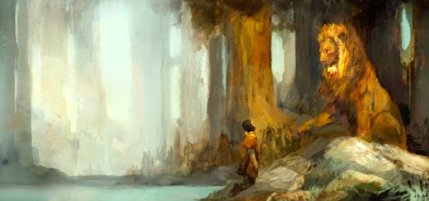 "Inspiration of Medieval Language & Literature: C.S. Lewis, ""Prince Caspian"" (art by Mike Kupka; Disney concept art, 2008)"